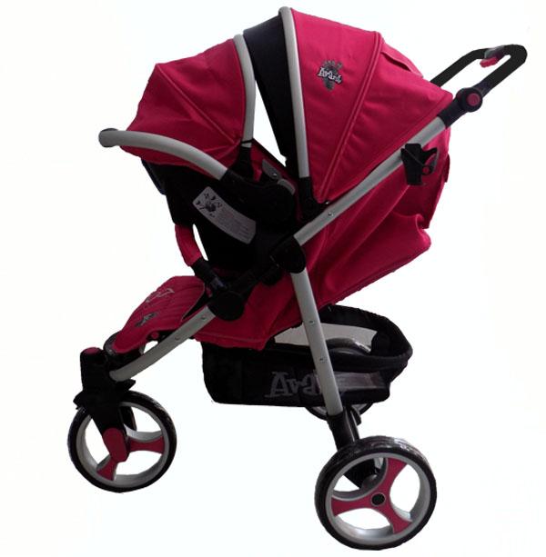 Coche 4 en 1 para beb rosado avant for Precios sillitas bebe para coche