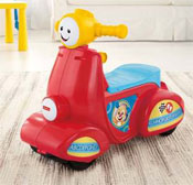 Moto Carrito Mon Escúter Scooter  Con Smart Stages™ Fisher Price CGX01 - Rojo