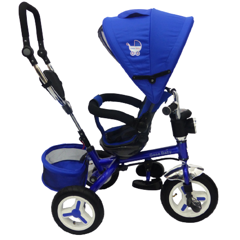 triciclo paseador con silla giratoria y acolchada